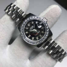 Diamonds watch 28mm size AAA women Luxury Watch Date Automatic just Mechanical glide smooth second hand AAA(China)