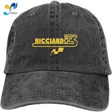 Snapback Casquettes Cowboy-Hat Denim-Cap Baseball F1 Black Renault Daniel Plain Sports