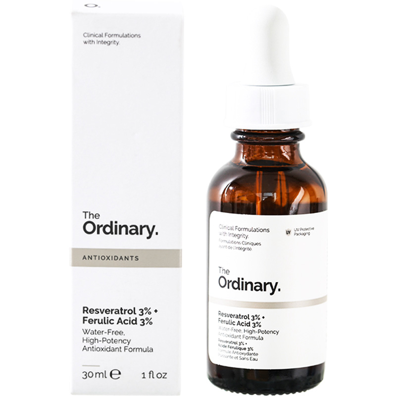 The Ordinary Resveratrol 3 Ferulic Acid 3 Brighten Antioxidant Foundation Makeup Liquid Face Repair Serum Skin Care Aliexpress