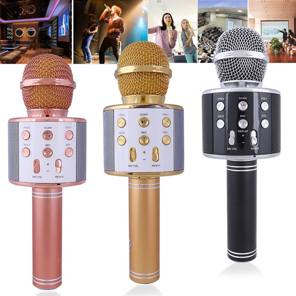 Microphone Phone Singing Wireless Microphone National Karaoke Artifact Metal Microphone Wireless Microphone