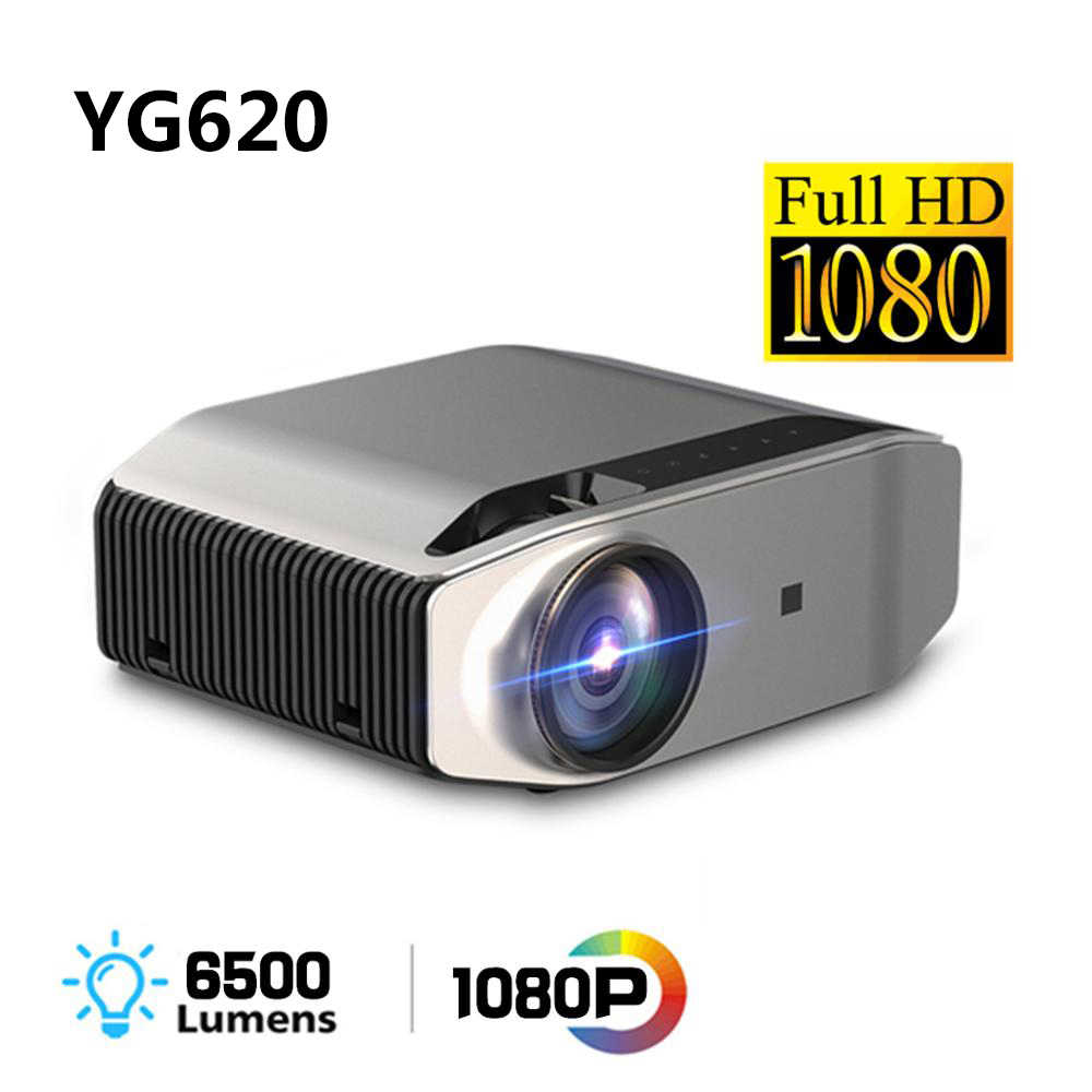 Asli 1080P Full HD Proyektor YG620 LED Projector 1920X1080P 3D Video YG621 Wifi Nirkabel Multi-layar Proyektor Home Theater 2Z