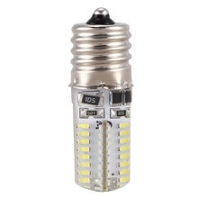 цена на E17 Socket 5W 64 LED Lamp Bulb 3014 SMD Light Pure White AC 110V-220V