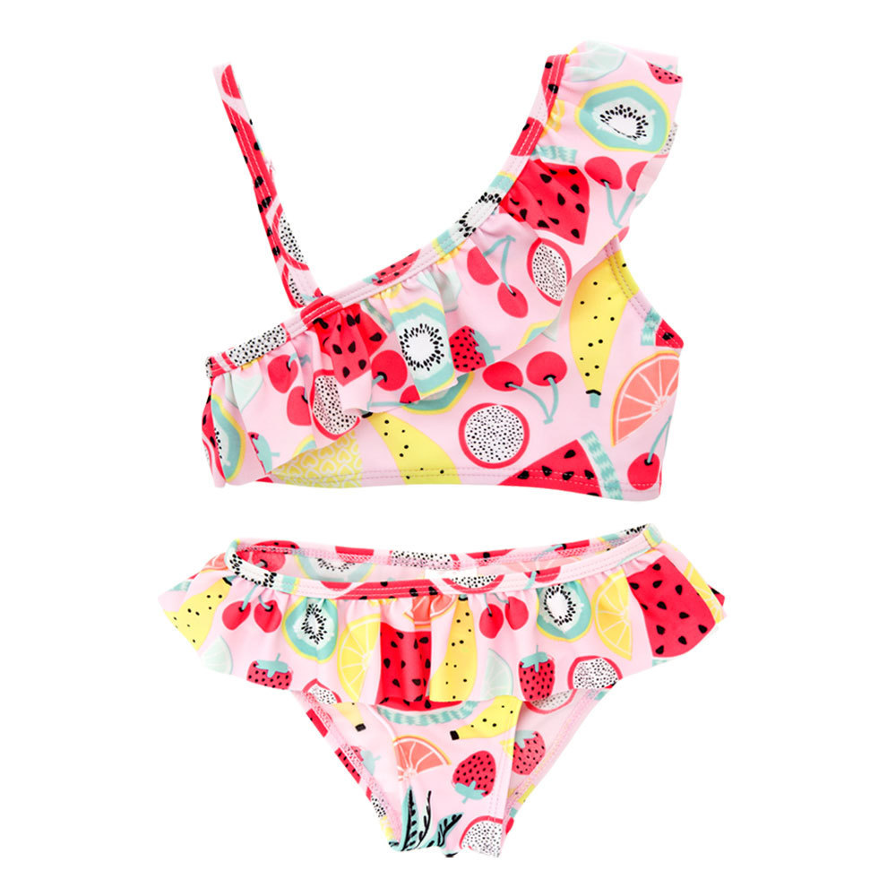 Micro For Girls' Two-piece Swimsuit Quick-Dry 2019 Summer New Products Cute GIRL'S Bathing Suit Two-Piece Set Baby Swim Bathing