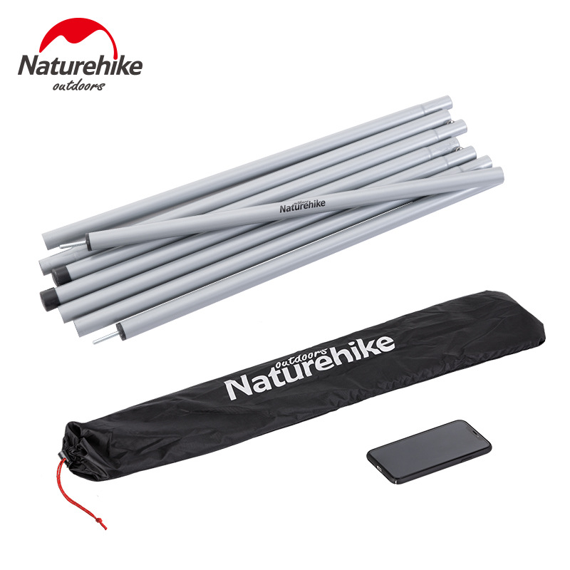 Naturehike Camping Tent Accessories 2pcs*2m Poles Awning Poles Bracket Fittings Thickening Pole For Tent Sunshade Outdoor Tool