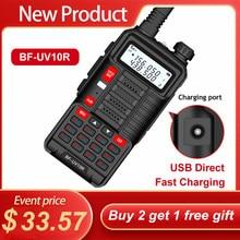 Baofeng walkie talkie uv10r vhf uhf dupla banda em dois sentidos cb estação baofeng uv 10r rádio portátil de carregamento usb para a caça