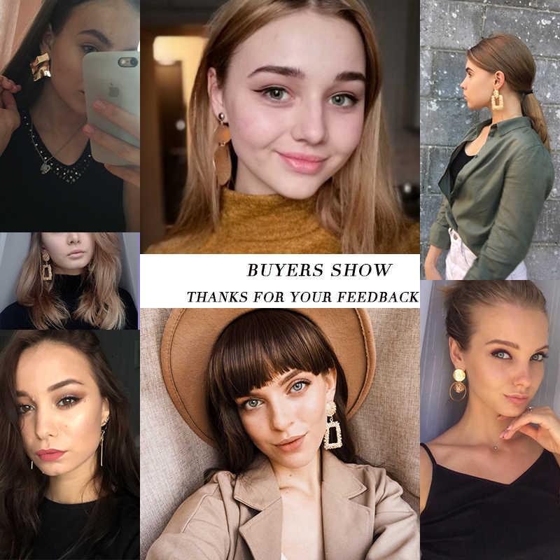 עגילי הצהרת אופנה 2019 גדול גיאומטרי עגילים לנשים תלוי להשתלשל עגילי זרוק חרישת תכשיטים מודרני