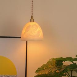 Nordic proste lampy wiszące ceramika salon wiszące lampy Art De oczekujące oświetlenie dla dzieci jadalnia sypialnia lampa wisząca na poddaszu w Wiszące lampki od Lampy i oświetlenie na