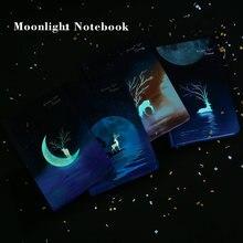 A5 блокнот журнал печать лунного света твердая обложка 80 г
