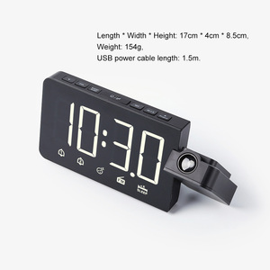 Image 5 - Zegar alarmowy cyfrowe elektroniczne zegary stołowe z funkcją drzemki Radio FM głośny zegarek LED z projekcją czasu