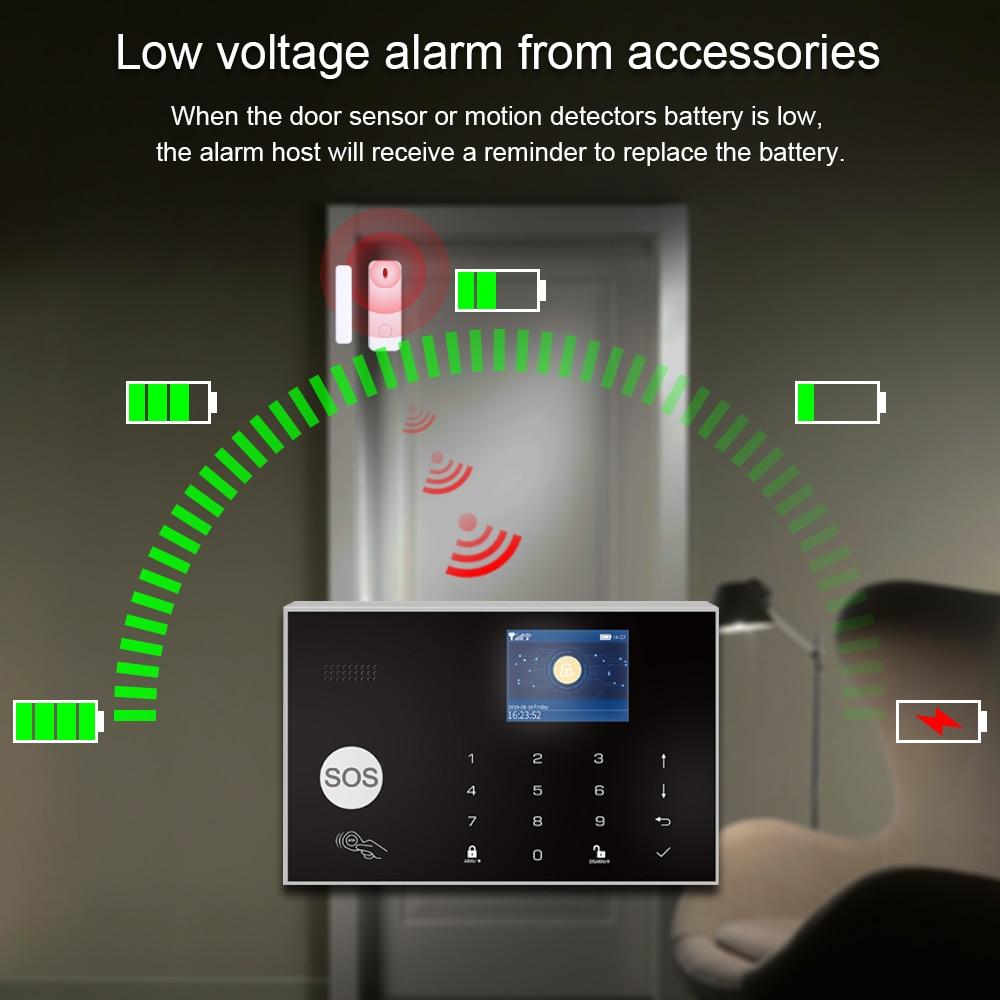 Fuers WIFI умная домашняя система охранной сигнализации 3G противоугонная система 4,3 дюймовый цветной экран приложение дистанционное управлени... - 4