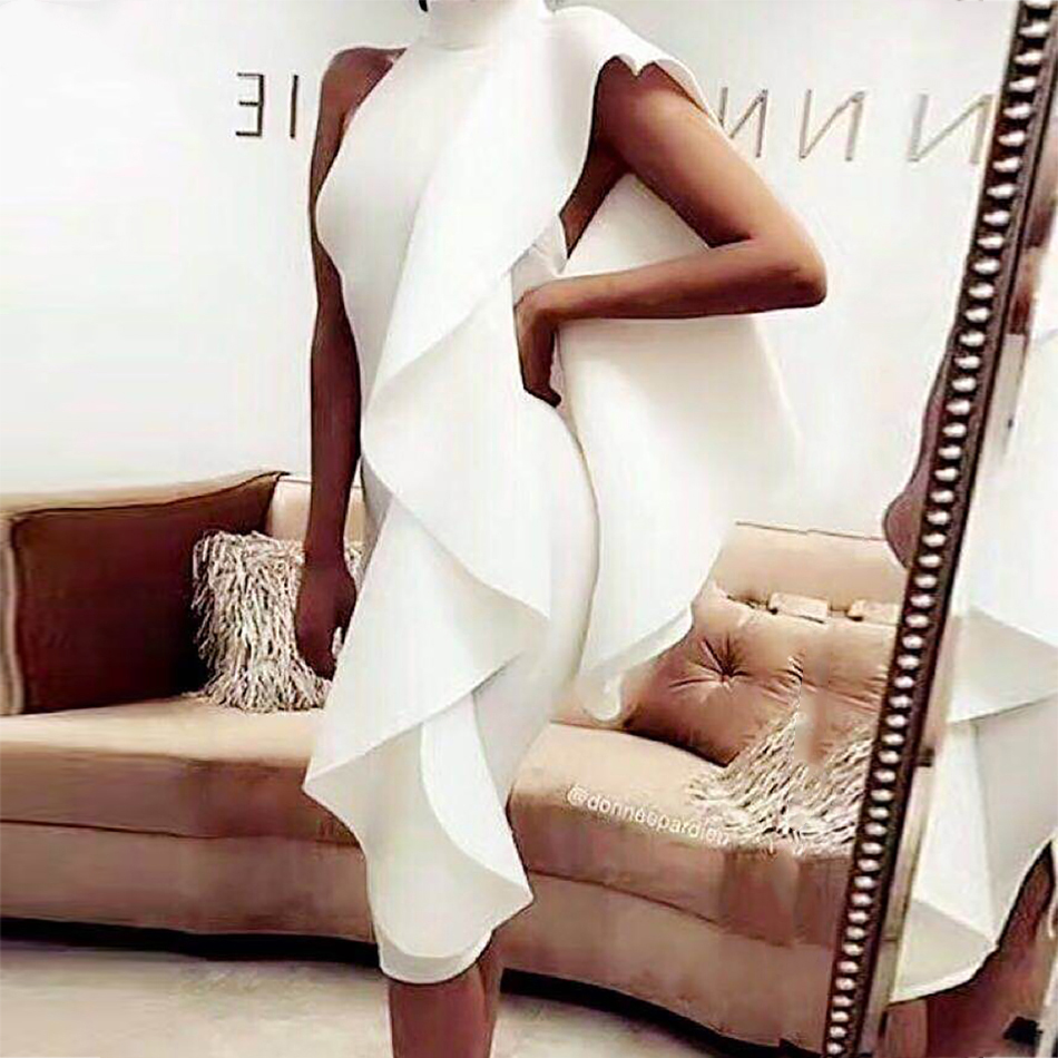 Adyce 2019 New Summer White Women Celebrity Party Dress  Wine Red Sleeveless Patchwork Ruffles Bodycon Club Dresses Vestidos