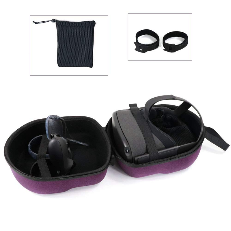 Adjustable VR Headband Cable Storage for Oculus Quest All-in-one VR Gaming Headset
