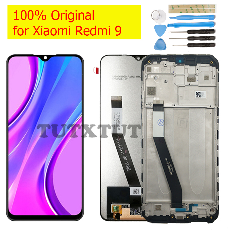 Оригинальный Для Xiaomi Redmi 9 ЖК-экран сенсорный дигитайзер сборка ЖК-дисплей 10 точек сенсорный Ремонт Запчасти