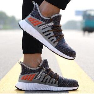 Image 5 - 超軽量安全靴男性女性鋼つま先ハイキング靴作業溶接の靴