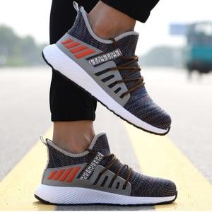 Image 5 - Chaussures de sécurité ultra légères, chaussures de randonnée à bout en acier pour hommes et femmes et travail et soudage