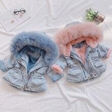 Новинка года; джинсовая куртка для девочек; Верхняя одежда для детей; сезон осень-зима Модная одежда детская куртка пальто для девочек детская одежда