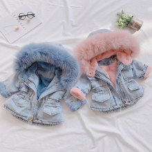 2019 New Denim Jacket for Girl #8217 s Toddler Children AUTUMN amp WINTER Outerwear Fashion Outfits Kids Jacket Girl Coats Kids Clothes cheap TC JEANS COTTON Polyester Girl s Denim Coat Fits true to size take your normal size Thin (Summer) Full Outerwear Coats
