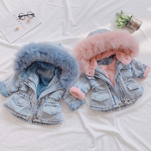 2019 New Denim Jacket for Girls Toddler Children AUTUMN &WINTER Outerwear Fashion Outfits Kids Jacket Girl Coats Kids Clothes