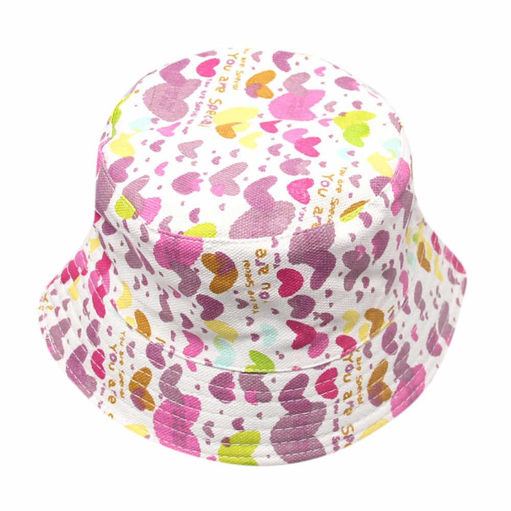 Niños pequeños niños niñas patrón Floral Bucket sombreros casco protector de sol pescador de gorra sombrero gorrito para bebé invierno Czapki dla dzicri шпка