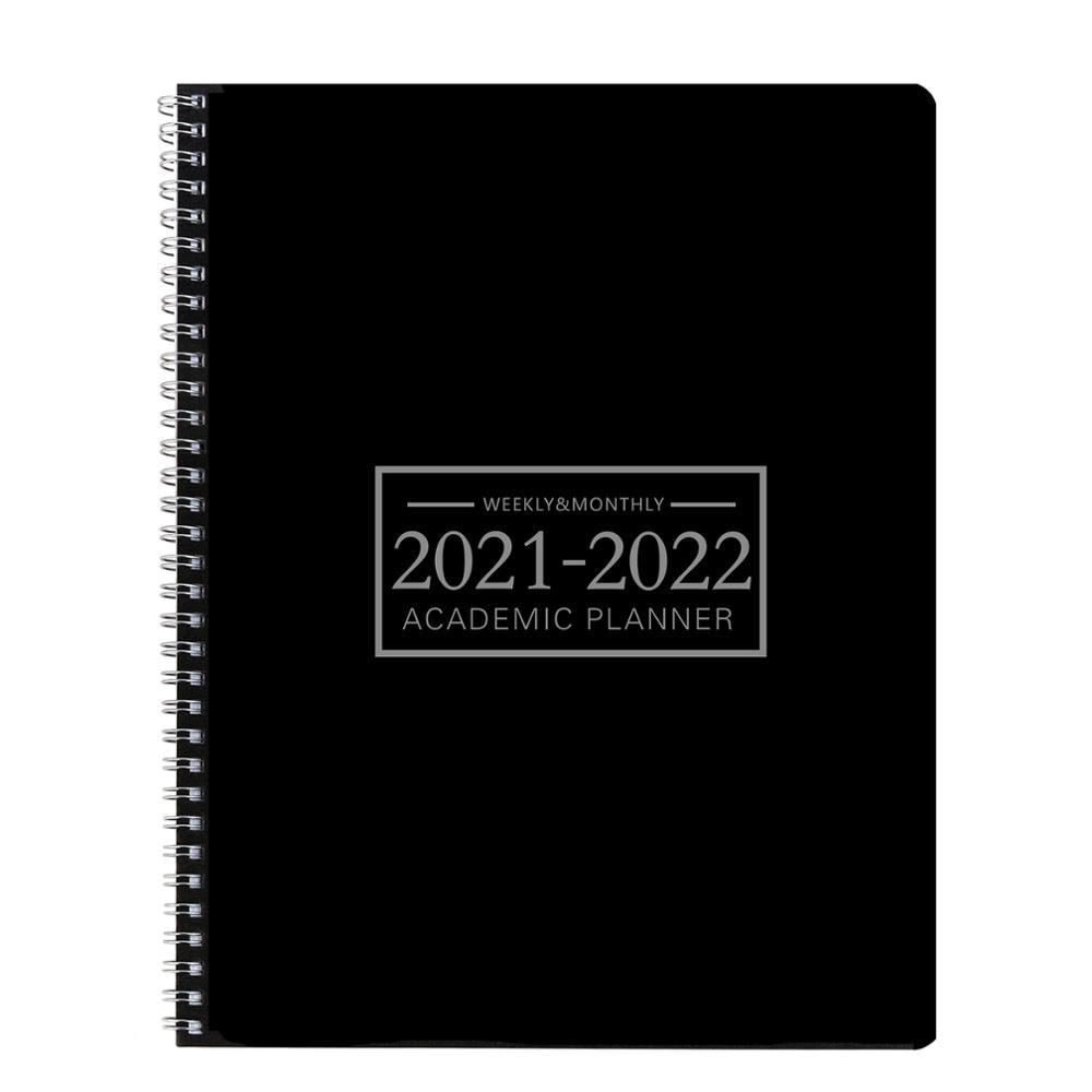 Plano de escritório livro 2021-2022 planejador diário semanal e mensal planejador acadêmico gerenciamento de tempo agenda pessoal para crianças adultos