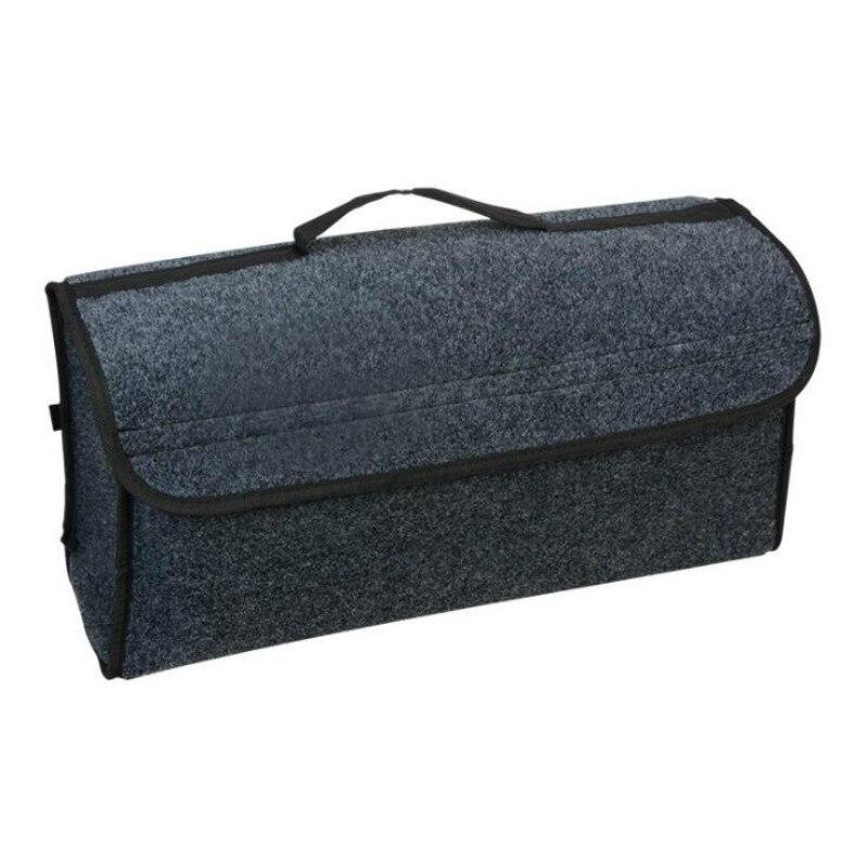 Caixa de armazenamento de feltro macio do carro mala do veículo caixa de ferramentas multi-uso organizador saco tapete dobrável para caixa de emergência