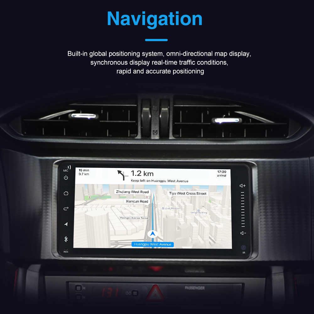 Araç DVD oynatıcı GPS android 10 oynatıcı 2 din radyo yeni evrensel GPS navigasyon multimedya için Nissan Toyota Volkswagen Mazda BYD Kia VW