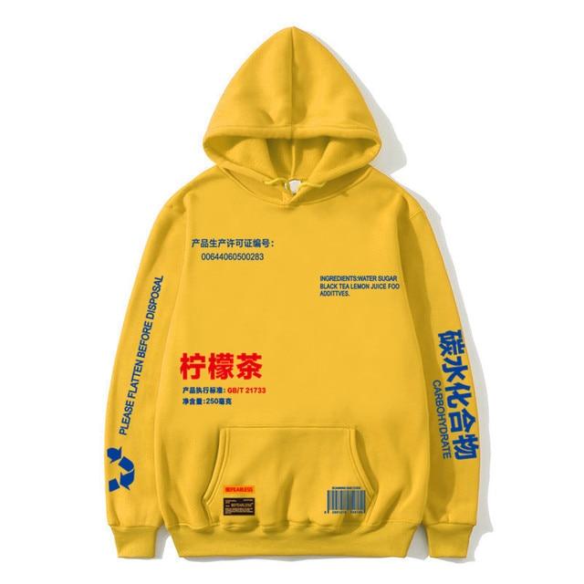 Hot hoodies Lemon Tea Printed Fleece Hoodies Men/Women Autumn Casual Pullover Sweats Hoodie Male Fashion Skateboards Sweatshirts
