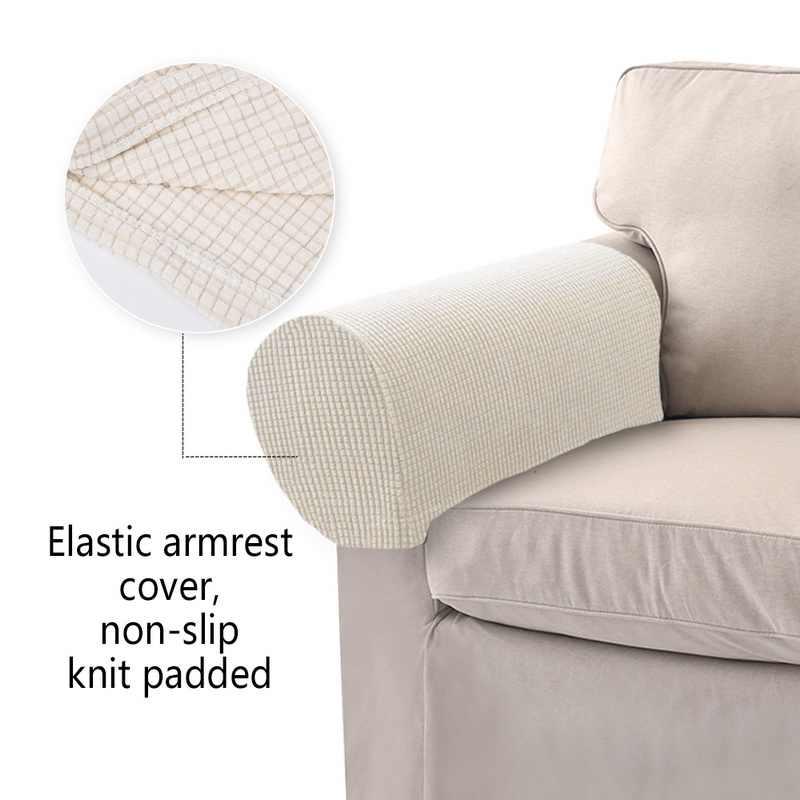 Junejour 2 قطعة/المجموعة للإزالة الذراع تمتد أريكة الأريكة كرسي حامي كرسي يغطي مسند ذراع 50x26x16 سنتيمتر + 1 مربع تصاعد الأظافر