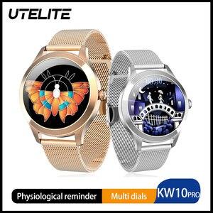 Image 1 - UTELITE ساعة متصلة KW10 pro للنساء ، شاشة تعمل باللمس ، IP68 ، مقاومة للماء ، مراقب معدل ضربات القلب ، النوم ، PK KW10 DT88 ، 2020