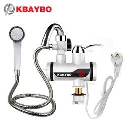 3000W درجة الحرارة عرض الفورية صنبور الماء الساخن Tankless صنبور كهربائي المطبخ الساخن لحظة صنبور سخان مياه المياه التدفئة
