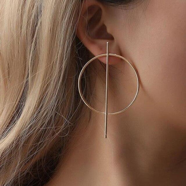 2020 New Fashion Hoop Earrings With Rhinestone Circle Earrings Simple Earrings Big Circle Gold Color Loop.jpg 640x640 - 2020 New Fashion Hoop Earrings With Rhinestone Circle Earrings Simple Earrings Big Circle Gold Color Loop Earrings For Women