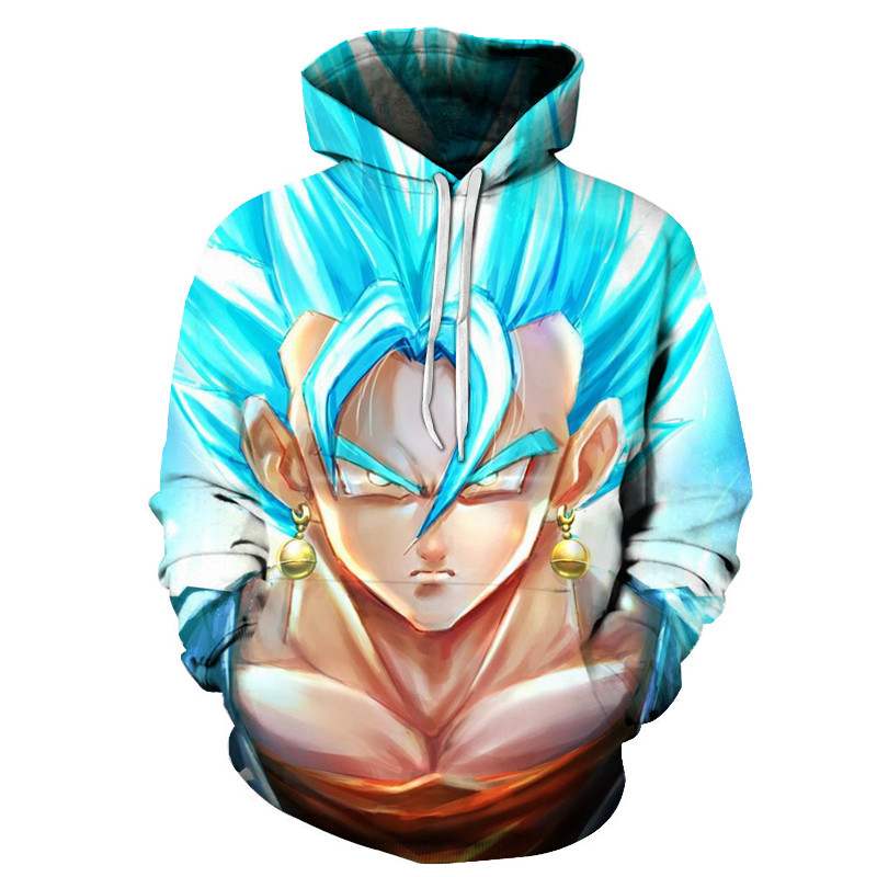 Women Men Dragon Ball Anime Hoodie Jumper 3D Print Super Saiyan Sweatshirt S-5XL
