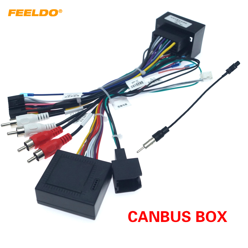 FEELDO Android Car Media Player Navi Radio CANBUS BOX Wire Harness For Chevrolet Cruze #HQ4785