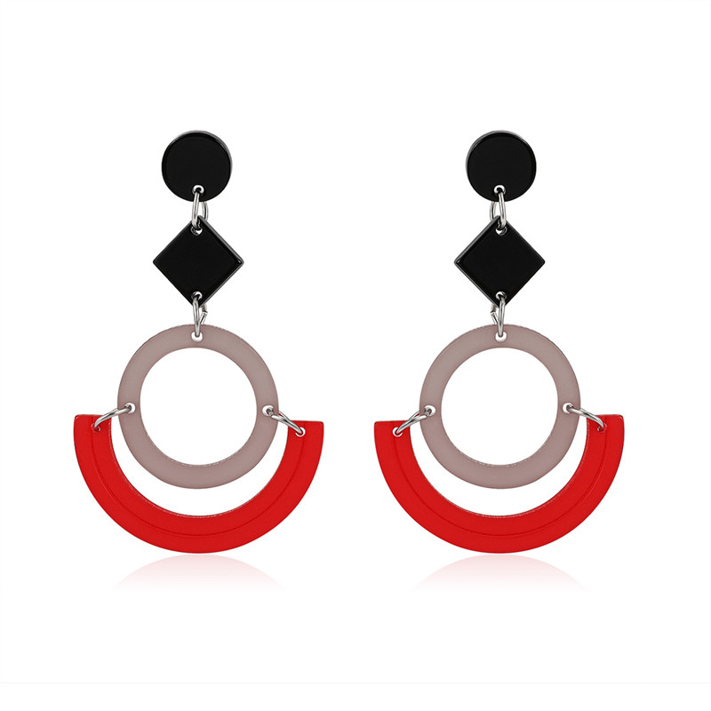 NJ Creative Red Drop Earrings 2019 For Women Multicolored Pendant Hanging Fashion Jewelry Gift