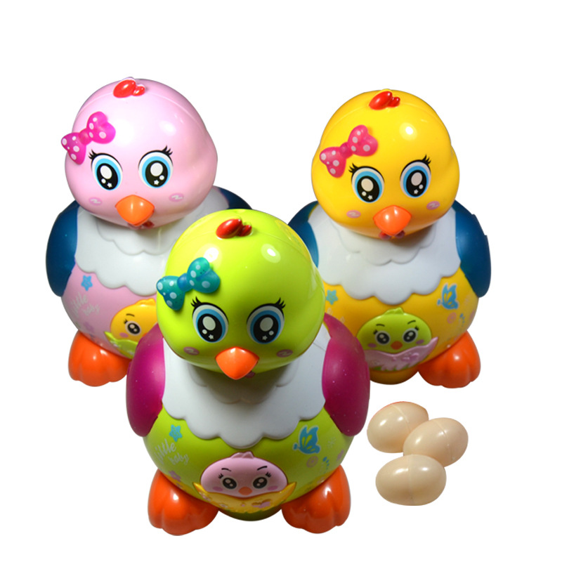 Laying Chicken Laying Hens Electric wellong to Hen Light Music CHILDREN'S Toy Which Lay Eggs Toy image