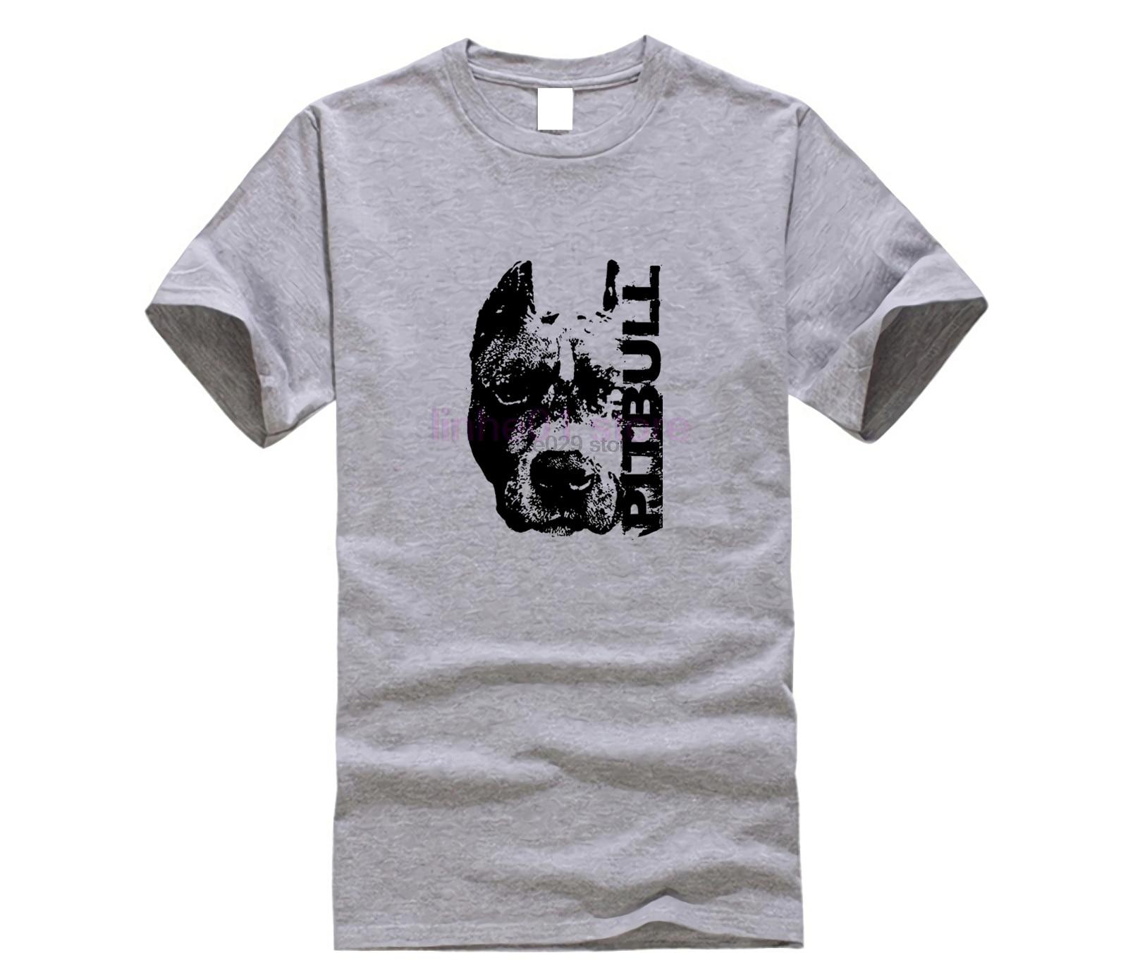 Забавная Мужская футболка, футболки с принтом, Мужская футболка в стиле Харадзюку, с рисунком питбуля, головы собаки, питбуля, топ питбуля, д...