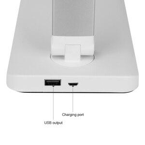 Image 3 - USB شحن ستبليس عكس الضوء 52 LED مكتب الجدول مصباح طوي تدوير اللمس التبديل القراءة ضوء تيار مستمر 5 فولت 6 واط توقيت أباجورة