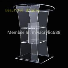 Мебель прозрачная Современная дизайнерская дешевая прозрачная акриловая Трибуна акриловое плексиглас