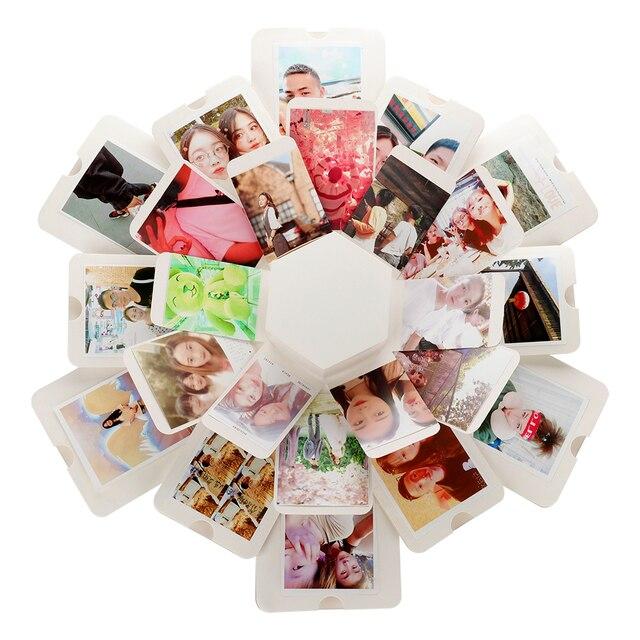Bella Sorpresa di Esplosione Coppia Scatola di Amore Memory Fai Da Te Album di Foto Anniversario di San Valentino Giorno Ragazza Regalo di Amore Scrapbook Regali di Natale 6