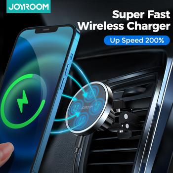 Uniwersalna 15W Qi bezprzewodowa ładowarka samochodowa magnetyczny uchwyt telefonu dla iPhone 12 Pro Max bezprzewodowy uchwyt samochodowy do telefonu Huawei tanie i dobre opinie Joyroom Ładowarka bezprzewodowa Magnetyczne CN (pochodzenie) Uniwersalny JR-ZS240 Gun Color Sea Blue Car Holder For iPhone12 Pro