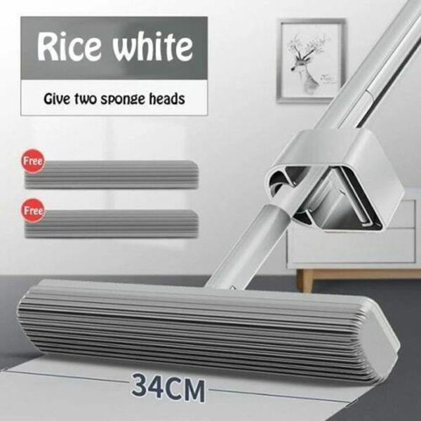 Glue Cotton Mop 180 Degree Spin Water Absorbent Adjustable Home Floor Cleaning Tool OCT998 Mops     - title=