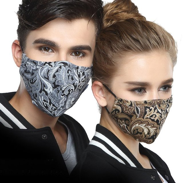 PM2.5 Cotton Black Mask mouth face Mask Anti dust Mouth Mask with 2pcs Activated Carbon Filter korean Mask Fabric Face Mask 1