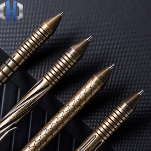 FH Bolt Tactical Pen Brass Distressed High-end EDC Equipment