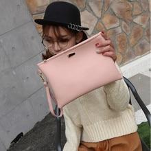 Fashion Solid Handbag Women's Clutch Bag Leather Women Envelope Bag Zipper Evening Bag Female Clutches Handbag 9.12