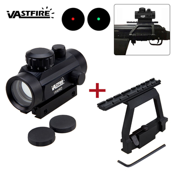 Tactical 1X40 Holographic Red Green Dot Sight Scope Hunting Airsoft Collimator With 20MM QD Rail Side Mount For Ak47 For 74U tactical qd quick detach side rail scope picatinny mount base red green dot sight mount for hunting ak47 ak74 rifle accessory