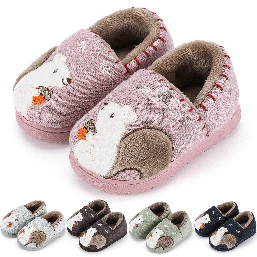 Toddler Slippers Kids Winter Boys Girls Fashion Shoes Warm Cute Animal Home Slipper Kids Hotel Slippers Zapatillas Bebe Kapcie