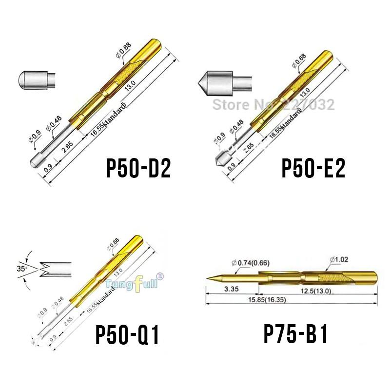 Sonda per test a molla Migliore promozione 500 pezzi P50-P100 Pogo - Strumenti di misura - Fotografia 6