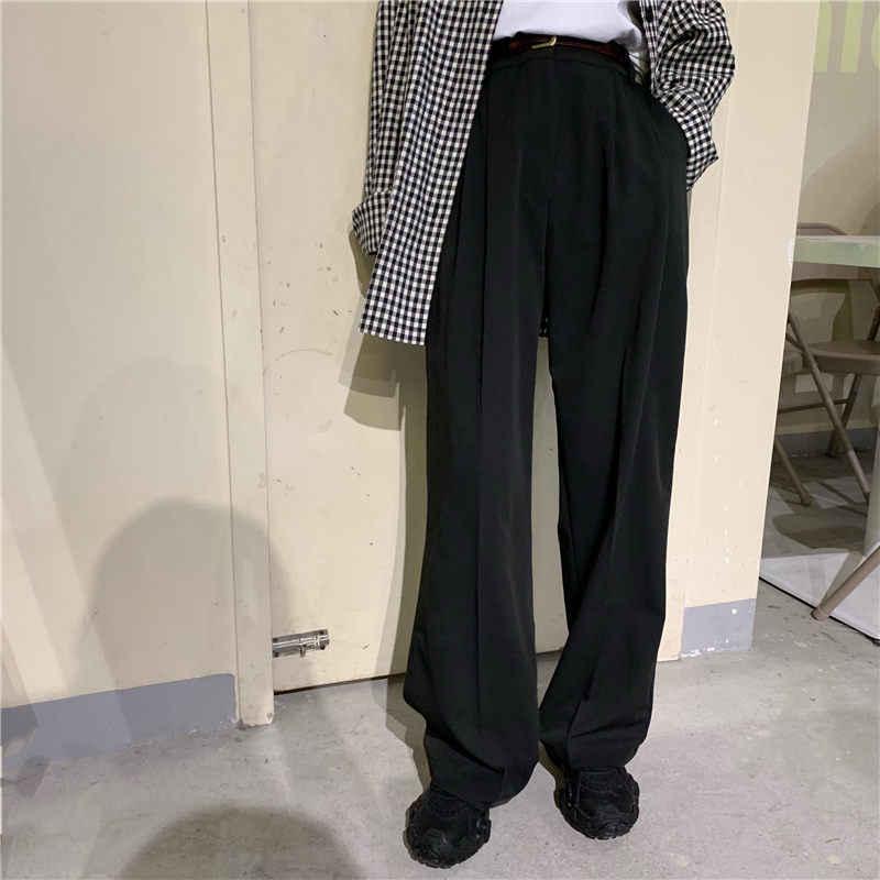 HziriP คุณภาพสูง Retro ตรง Chic ทั้งหมดตรงกับหลวมยาว VINTAGE PLUS ขนาดสูงเอว Casual Office Lady กางเกง