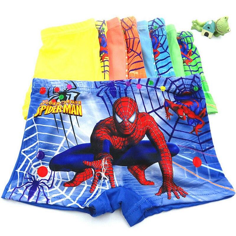 5pcs/lot boxer briefs boy underwear kids Baby Children underwear Spiderman cartoon comfortable   panties   teenagers for 2-12T   panty