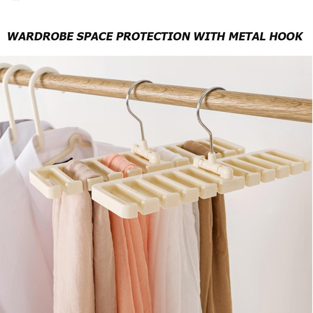 Plastic Tie Belt Scarf Rack Space Saver Closet Wardrobe Organizer Belt Hanger With Metal Hook Home Storage Racks
